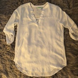 White loose fitting blouse